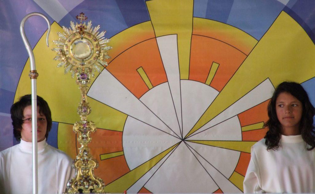 Exposição do Santíssimo na Festa do Corpo de Deus, em 2009
