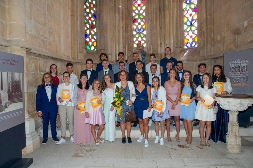 Grupo de jovens crismados da Comunidade Cristã da Golpilheira